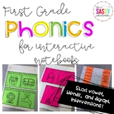 Phonics Intervention for Interactive Notebooks-Short Vowel