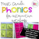 Phonics Intervention for Interactive Notebooks (CVCE edition)