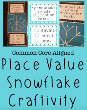 First Grade Place Value Craft / Activity- Winter Themed- Common Core Aligned