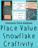 First Grade Place Value Craft / Activity- Winter Themed- C