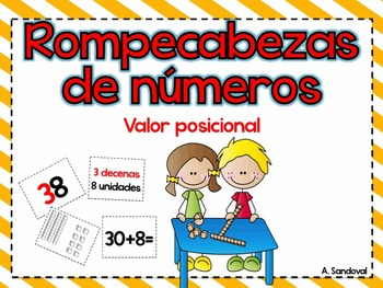 First Grade Place Value Game for Math Stations in Spanish