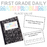 First Grade Daily Math Problems: Place Value