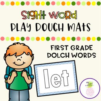 Sight Word Play Dough Mats - First Grade