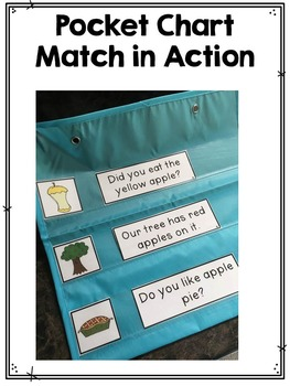 First Grade Pocket Chart Match: Fall