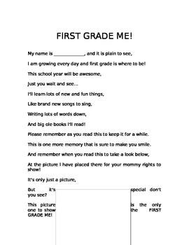 First Grade Poem