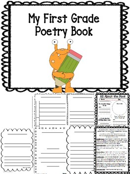1st Grade Student Poetry Journal Book Printable