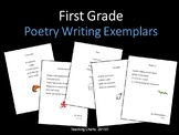First Grade Poetry Writing Exemplars (Lucy Calkins Inspired)
