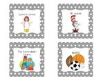 First Grade Polka Dot Book Labels