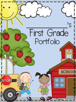 First Grade Portfolio And Memory Book By Katie Mense Tpt