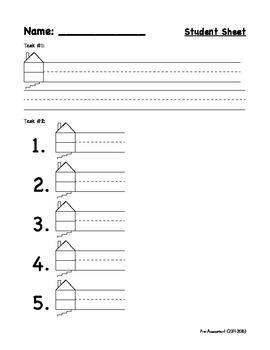 First Grade: Pre-Assessment Writing