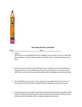 First Grade Pre/Post Math Assessment