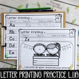 First Grade Printing Upper & Lowercase Letters L.1.1a