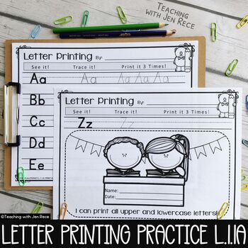 Common Core: First Grade Printing - Upper & Lowercase Lett