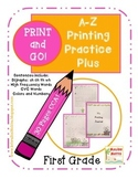 Printing Practice A-Z- Print and Go- No Prep-First Grade-C