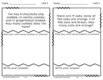 First Grade Problem Solving: Above Standard Version