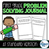 At Standard First Grade Problem Solving Journal Distance Learning