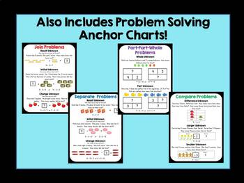 Basic Facts Problem Solving Task Cards - Addition and Subtraction Within 20