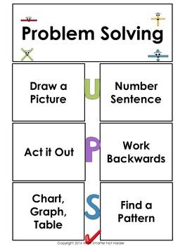 First Grade Problem Solving Unit Kit