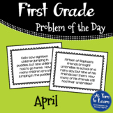 First Grade Problem of the Day - April