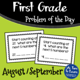 First Grade Problem of the Day - August/September