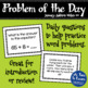 First Grade Problem of the Day - January (FREE!)
