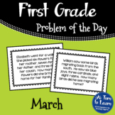 First Grade Problem of the Day - March