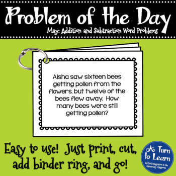 First Grade Problem of the Day - May