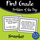 First Grade Problem of the Day - November