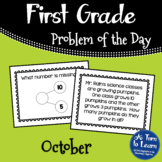 First Grade Problem of the Day - October