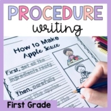 First Grade Procedure Writing Prompts and Worksheets