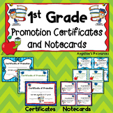 End of the Year Awards: 1st Grade Promotion Certificates and Notecards