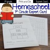 First Grade Quarterly Report Card