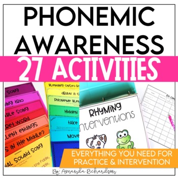 This is an image of Nerdy Phonemic Awareness Printable Games
