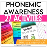 Phonemic Awareness Activities for Intervention