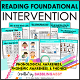 First Grade and Kindergarten RTI: Phonological Awareness &