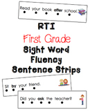 First Grade RTI Sight Word Fluency Sentence Strips {41 Words}