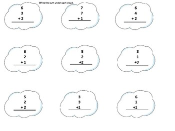 First Grade Rain Theme Substitute or Extension Work
