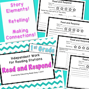 First Grade Read and Response for Reading Centers/Stations Work
