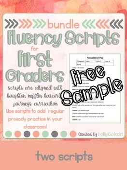 First Grade Reader's Theater Scripts for Fluency: Free Sample
