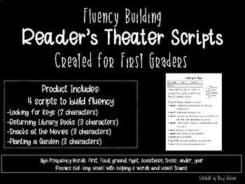 First Grade Reader's Theater Scripts for Fluency: Group 2