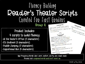 First Grade Reader's Theater Scripts for Fluency: Group 4