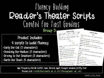 First Grade Reader's Theater Scripts for Fluency: Group 5