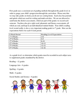 First Grade Readiness Packet