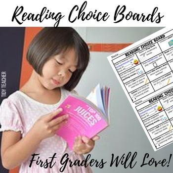 First Grade Reading Center Choice Board