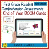 First Grade Reading Comprehension Assessment BOOM Cards: End of the Year