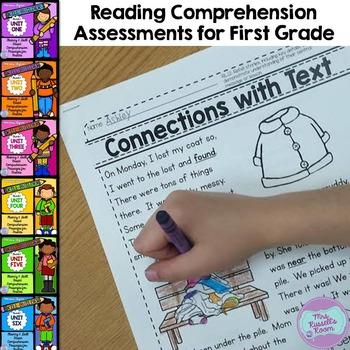 First Grade Reading Comprehension Assessments {PROGRESSIVE BUNDLE}