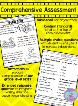 First Grade Reading Comprehension Assessments {UNIT 3}