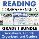 First Grade Reading Comprehension Bundle - Main Idea, Compare and Contrast
