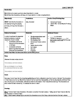 First Grade Reading Comprehension Fiction Unit (Lesson Plans)