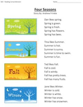First Grade Reading Comprehension Workbook - Volume 1 (50 Stories)